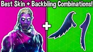 10 BEST NEW SKIN + BACKBLING COMBOS in Fortnite! (Best Cosmetic Combinations)