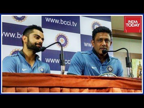 Virat Kohli & Anil Kumble Press Conference On West Indies Series