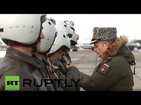 Russia: Troops arriving home from Syria given hero's welcome