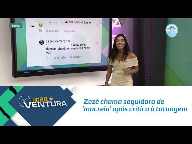 Zezé chama seguidora de 'mocreia' após crítica à tatuagem com nome de Graciele Lacerda
