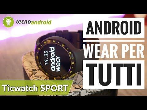 RECENSIONE TICWATCH SPORT | ANDROID WEAR per TUTTI!!!