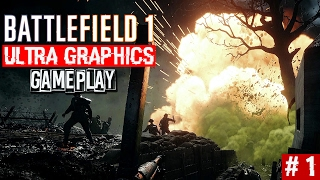 Battlefield 1 Singleplayer Campaign Gameplay Part 1 | Ultra Graphics 1080p60 | PitchBlack