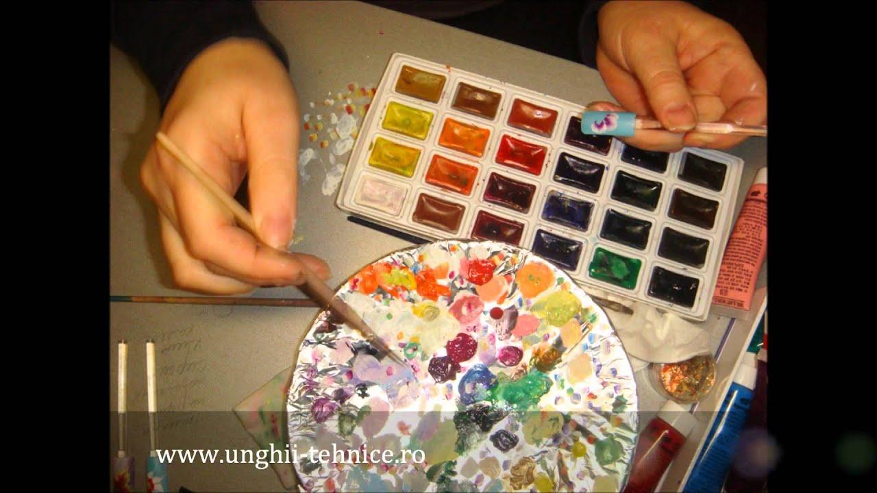 Acuarele pictura unghii