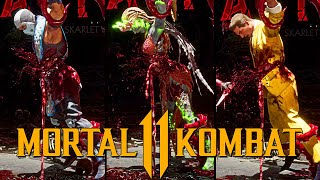 "MORTAL KOMBAT 11: Skarlet ""Bottom Out"" Brutality Performed on all characters"