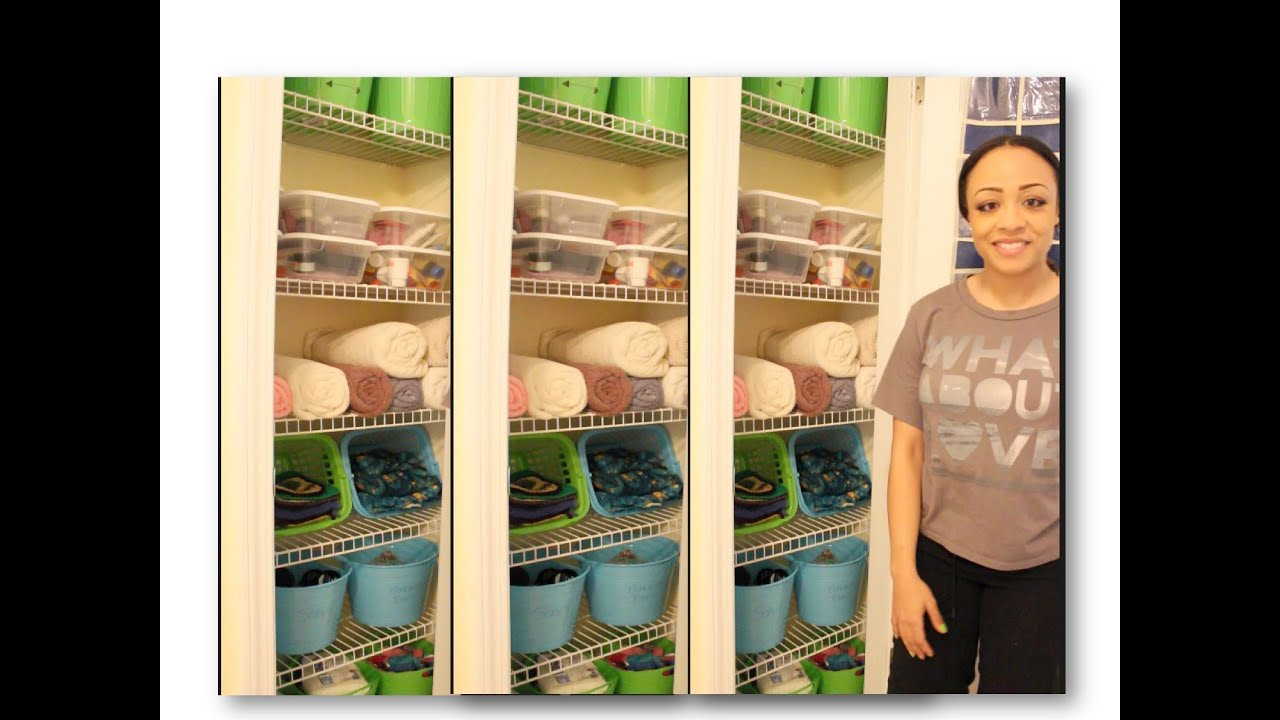 Dollar Store Linen Closet Makeover Youtube