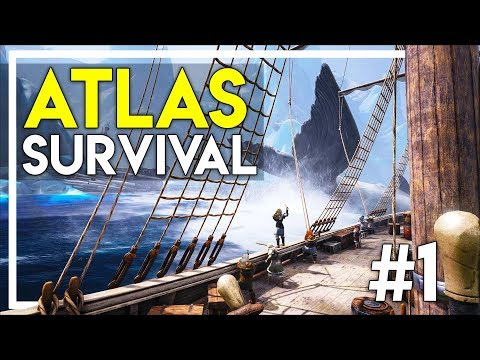 Ark Atlas Survival Gameplay! - Ark Survival Evolved w/ Pirates & Boats! (Atlas Gameplay #1)