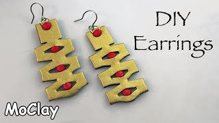 DIY Gold Earrings - Polymer clay tutorial