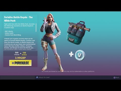 Buying & UNLOCKING NEW 'WILDE' Skin Pack Bundle With FREE Fortnite V-Bucks!!