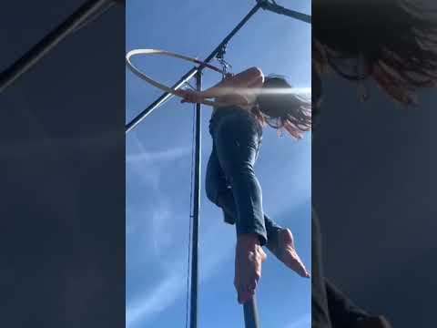 Vegan Circus Therapy. Lyra to the sun rays
