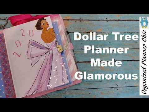 Dollar Tree Planner Made Glamorous | Budget Planner | DIY Planner Cover