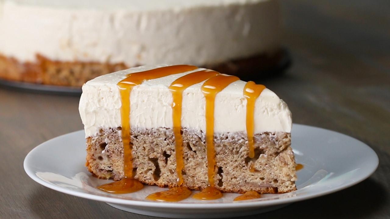 Banana Bread Bottom Cheesecake Youtube