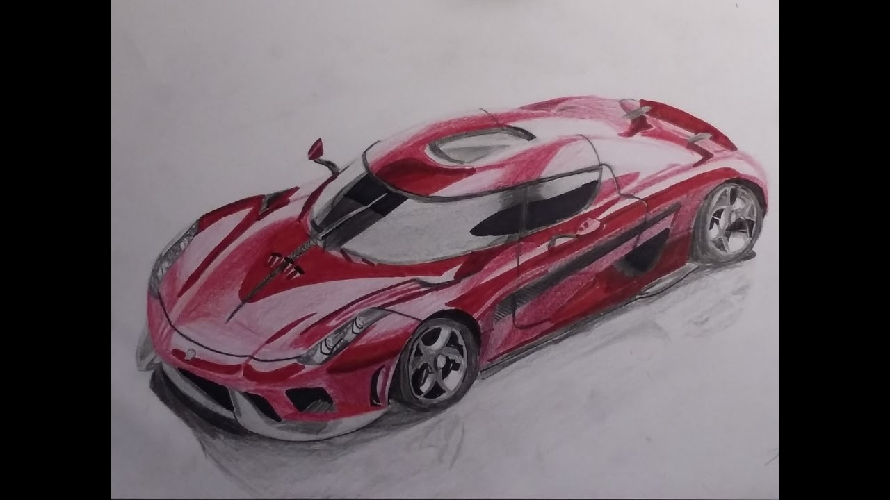 Drawing Tutorial  Drawing Koenigsegg Regera
