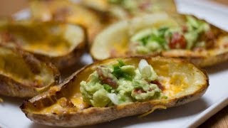 Loaded Potato Skins Recipe - Game Day Eats  Super Bowl Recipe  Total Noms