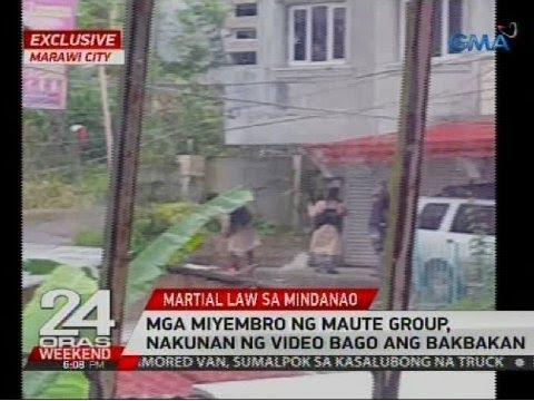 Mga miyembro ng Maute group, nakunan ng video bago ang bakbakan