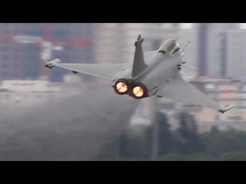 Afterburner Take-off ! Full Power Dassault Rafale Departure + Airshow ( HD )