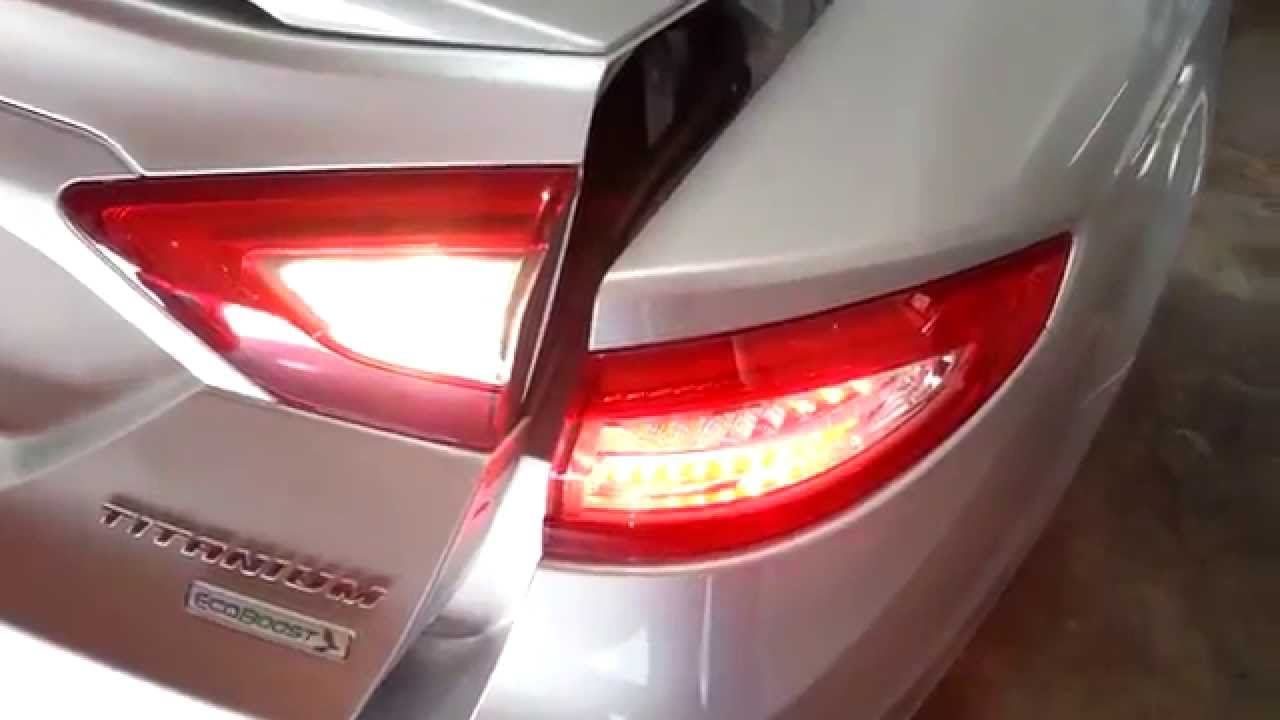2014 Ford Fusion Titanium Sedan Testing Tail Lights