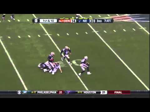 Wes Welker Broncos Patriots Dropped A Pass Interception, Woo!