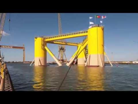 WindFloat Construction Timelapse