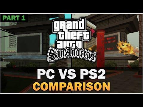GTA San Andreas - PS2 VS PC [Part 1] [In-depth Comparison]