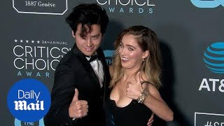 Haley Lu Richardson and Cole Sprouse at 2019 Critics' Choice