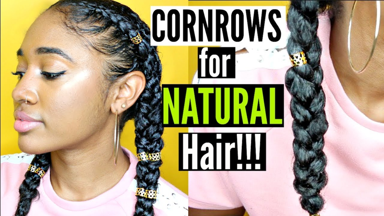 Protective Hairstyles Dutch Braids: Protective Style: Easy & NEAT Dutch Braids/ Cornrows