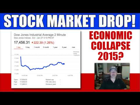 Stock Market Takes A Beating - Dow Down 350 Points - Economic Collapse 2015