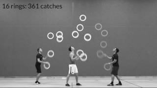 breaking all trio juggling world records rings clubs passing
