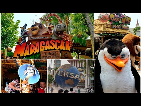 Madagascar Land Universal Studios Singapore, Dreamworks Crate Adventure, Carousel & Characters 2019