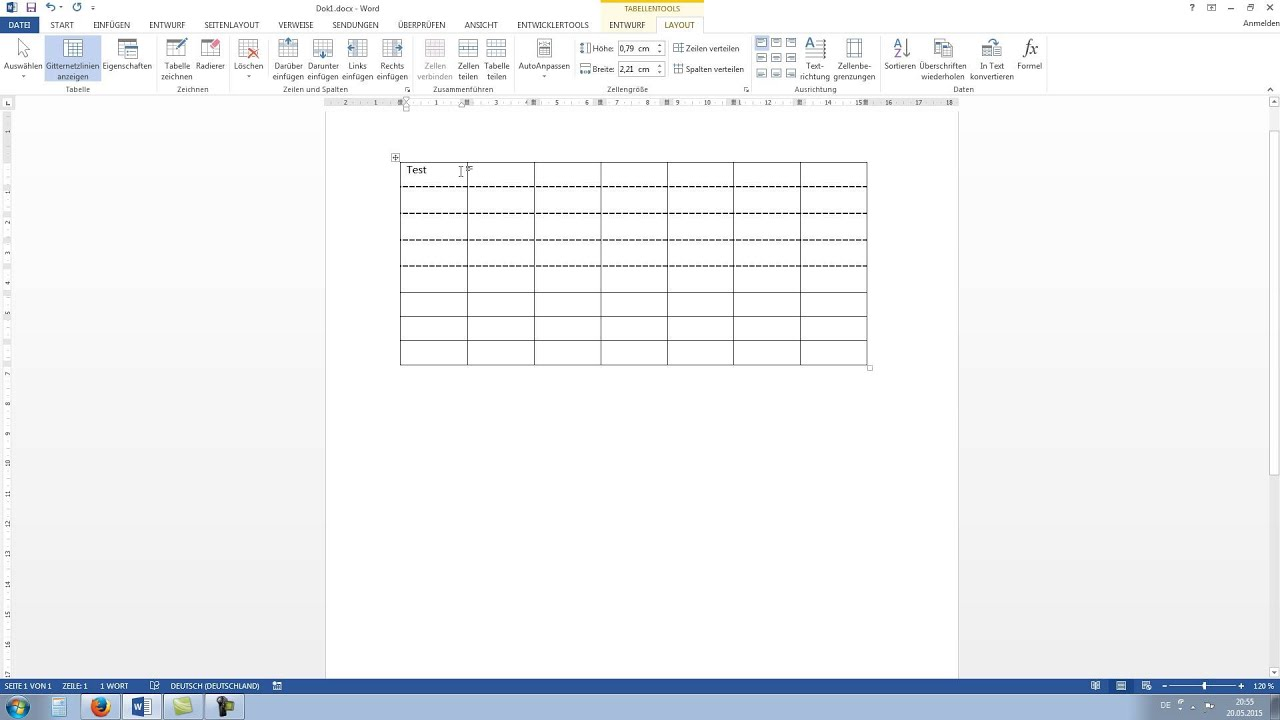 how to add tables in wordpad