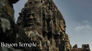 Aerial Footage of the Enigmatic Bayon, Angkor in Cambodia