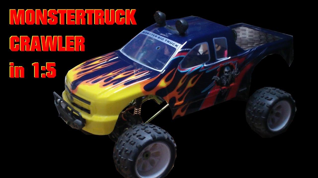 Monstertruck Skeleton Crawler 1:5 - Wasserdicht Dual Brushed 4x4 ...