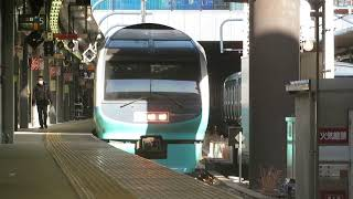 JR東日本251系スーパービュー踊り子到着・発車@新宿駅 (2019/2/10)