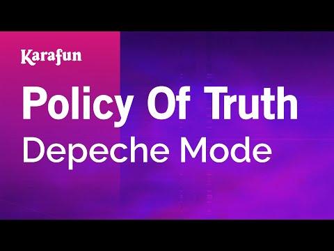 Karaoke Policy Of Truth - Depeche Mode *