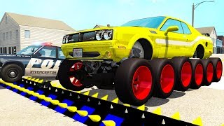 Police Spike Strip Crashes #18 - Beamng drive