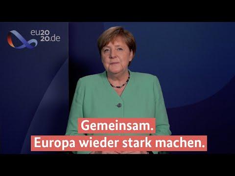 Kanzlerin Merkel zur deutschen EU-Ratspräsidentschaft