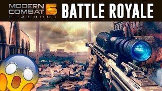 NUEVO BATTLE ROYALE de MODERN COMBAT 5 🔥 Modern Combat 5 Blackout   Gameplay en Español