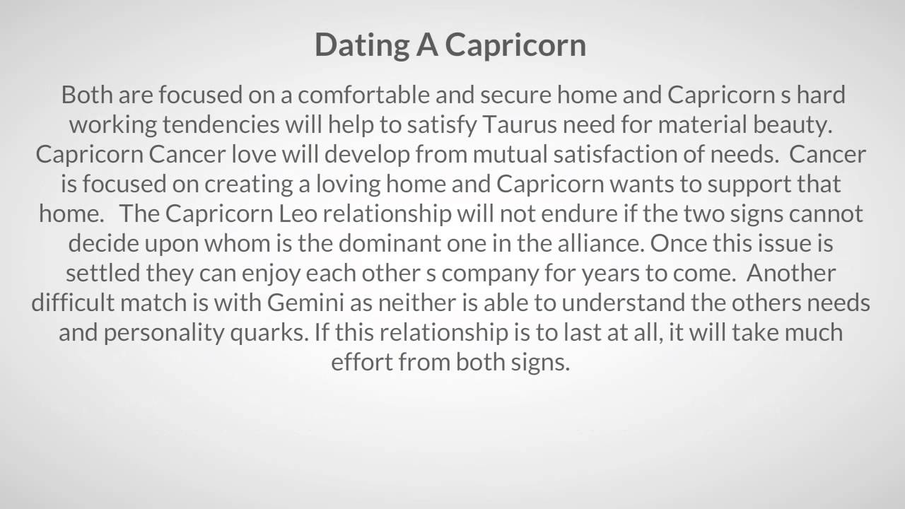 What You Should Know Before Dating A Capricorn Man