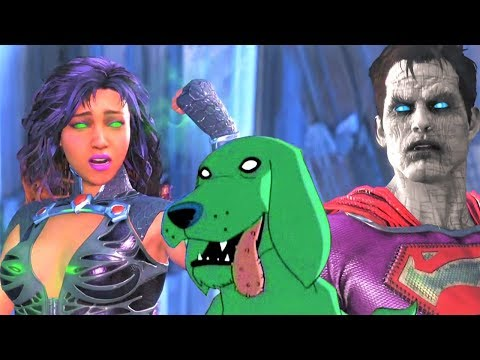 Thumbnail: INJUSTICE 2 - STARFIRE BEST INTRO DIALOGUES!!! NEW DIALOGUES!! Beast Boy & Cookies