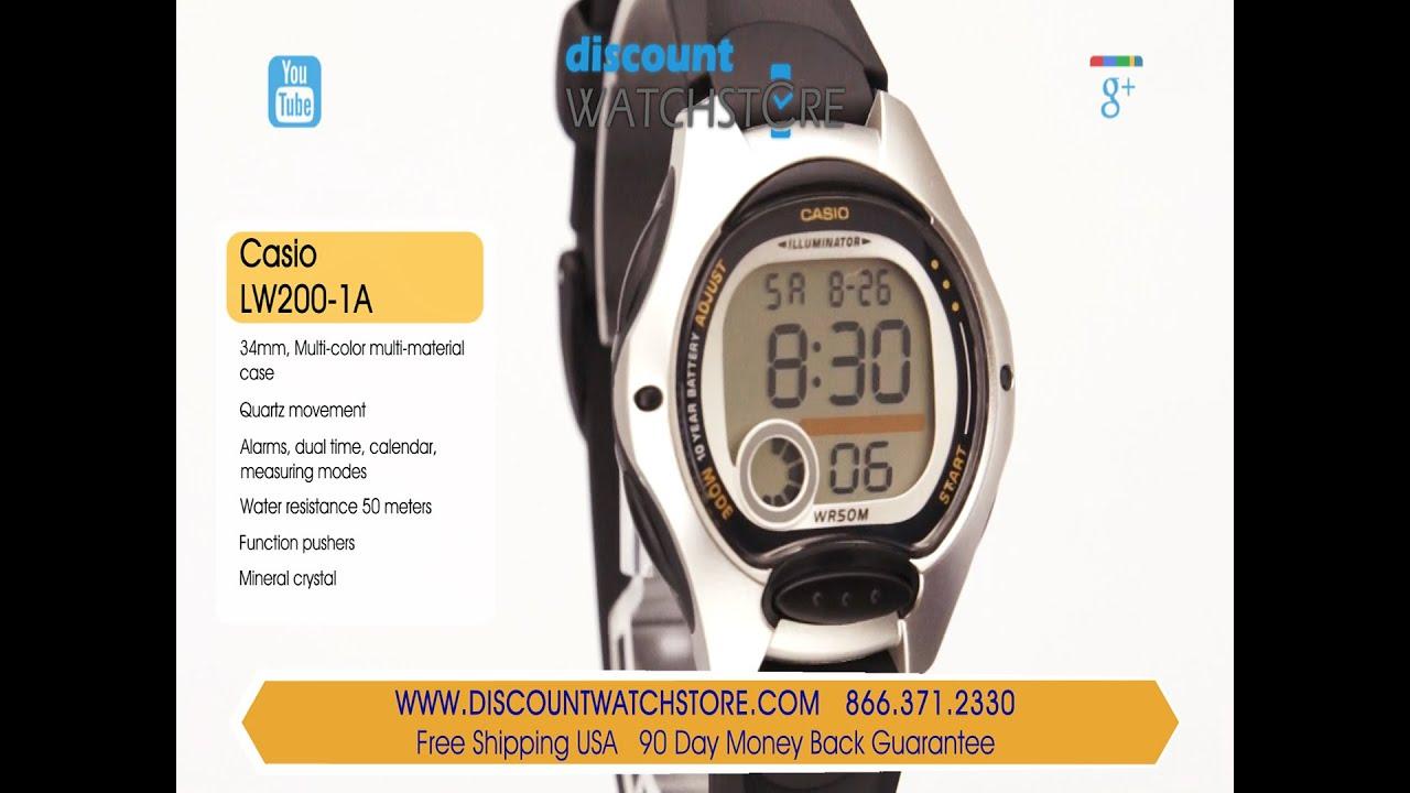 casio lw200 1a s sports grey digital black