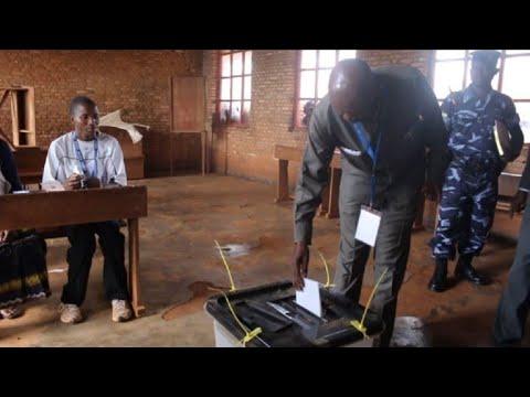 Opposition leader Agathon Rwasa votes in Burundi referendum