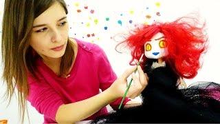 Видео для девочек. Макияж на Хэллоуин для Землянички