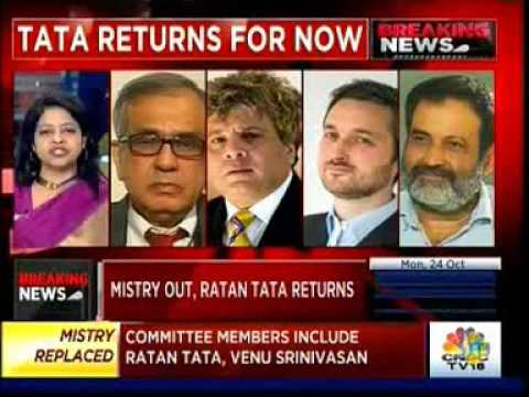 CNBC TV18: Mistry Out of Tata Sons (featuring Rajiv Kumar)