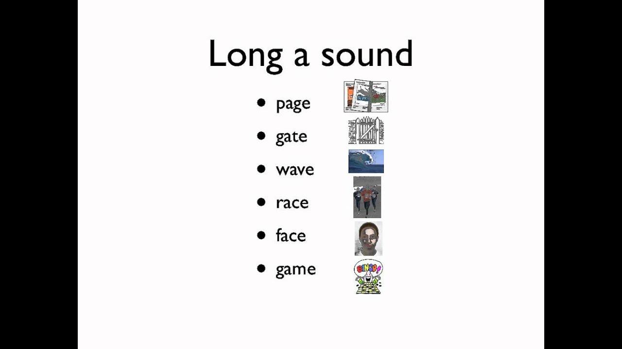 Spelling Long Vowel Sounds