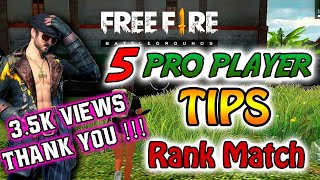 5 Pro Player Tips || Ranked Match Tips and Tricks || Heroic Tips || Free Fire Tips