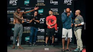 UFC 234: Anderson Silva Breaks Into Tears After Israel Adesanya Weigh-In Staredown