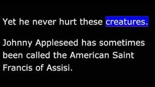 Biography - AJ - Johnny Appleseed - Saint of Apples