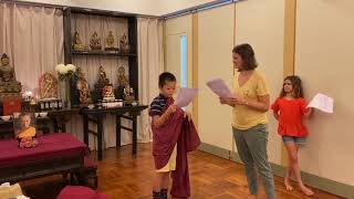 Rehearsing for the story of Angulimala
