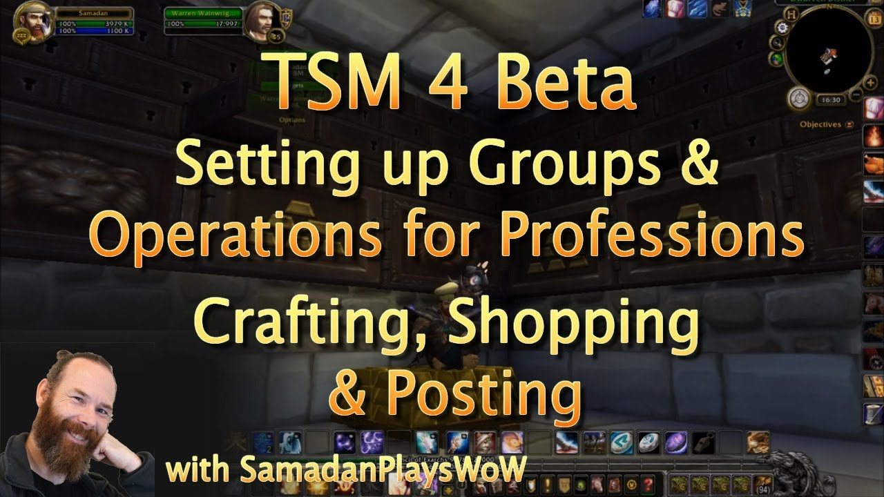 TSM4 Beta - Setting up Profession Groups & Operations