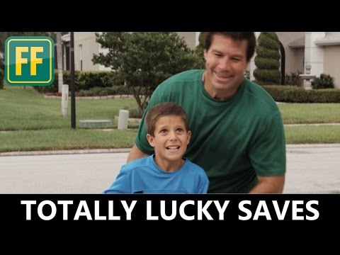 Top 5 Luckiest Dad Reflex Moments - Best Dad Saves Ever