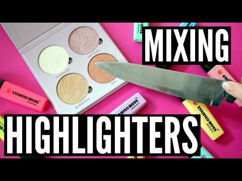 MIXING HIGHLIGHTERS - Stabilo, ABH, Colourpop, Benefit, Hourglass   Pastella28